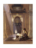 In the Mosque  (Watercolour Heightened with White and Touches of Gum Arabic 63)