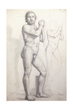 Naked Man Standing; Homme Nu Debout  C1856