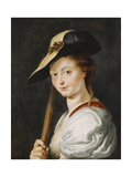 Portrait of a Young Woman  Stated to Be Suzanna Fourment  Bust Length  as a Shepherdess