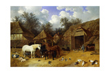 The Artist's Farmyard at Meopham  Kent  with Horses  Shetland Ponies  Pigs  Ducks  Pigeons and…