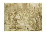 The Stoning of the Elders  from the Story of Susanna  1562