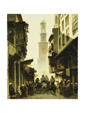 Street Scene in Damascus  1861