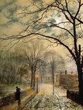A Moonlit Stroll  Bonchurch  Isle of Wight  1878