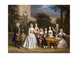 Group Portrait of a Family  in the Grounds of a Country House