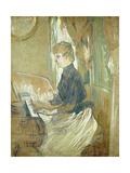 At the Piano  Madame Juliette Pascal in the Salon of the Chateau De Malrome; Au Piano  Madame…