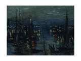 The Port of Le Havre  Night Effect; Le Port De Havre  Effet Du Nuit  1873