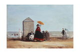 On the Beach at Trouville; Sur La Plage De Trouville  1865