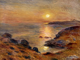 The Setting of the Sun at Douarnenez; Couche De Soleil a Douarnenez  1883