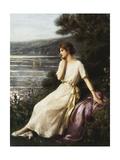 Portrait of a Woman by a Lake