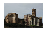 Italy Rome Church of St Frances of Rome (Santa Francesca Romana) and the Temple of Venus and…