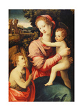The Madonna and Child with the Infant Saint John the Baptist  a Wooded River Landscape with an…
