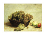 Still-Life  Raisins and Apples in a Basket; Nature Morte  Raisin Et Pomme D'Api  1880