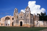 Franciscan Monastery with Open Chapel  Mani  Yucatan State  Mexico