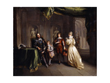 King Charles Taking Leave of His Children  C1721
