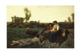 The Haymakers at Rest; Le Repos De Faneuses  1873