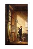 A Writer Sharpening His Quill; Der Schreiber  Eine Feder Schneidend