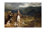 Two Gentlemen with Pointers on a Grouse Moor  1824