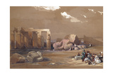 Fragments of the Great Colossi at the Memnonium  Thebes  1838