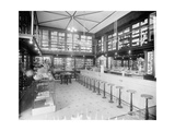 Drug Store with Soda Fountain  Possibly in Detroit  Michigan