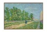 Road on the Edge of Paris  Farmer Carrying a Spade on His Shoulder  1887