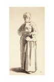 A Standing Woman Holding a Cup  C1852-56