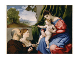 Madonna and Child with Two Donors  1525-1530