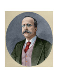 Enrique Hernandez (Born 1828) Spanish Journalist and Editor of the Impartial Engraving Colored