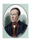 Alexandre Herculano (1810-1877) Engraving Colored