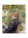 Redheaded Woman Sitting in the Garden of Mr  1889
