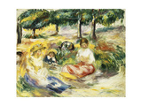 Three Girls Sitting on the Grass; Trois Jeunes Filles Assises Sur L'Herbe  1896-1897