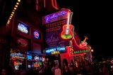 Music Bars at Night on Main Street in Nashville Tennessee