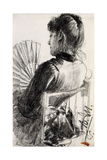 Lady with a Fan  1885