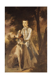 Portrait of John Graham  as a Boy  Full-Length  in Indian Dress Holding a Garland of Flowers…
