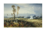 The War in Italy: the Battle of Palestro  the King of Sardinia Heading the Troops  1859