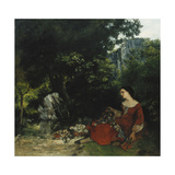 Woman with a Garland; Femme a La Guirlande  1856