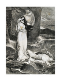 Lovers Hero and Leander Engraving