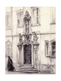 A Man Descending the Stairway of a Building Decorated with a Baroque Portal  1884