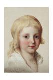 Portrait Study of Francesco  Crown Prince of Naples  as a Boy  Head and Shoulders