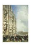 The War in Italy: the Arrival of the Emperor Napoleon III and the King of Sardinia at the Duomo …