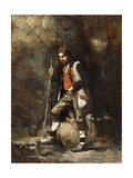 Young Italian Boy on the Mountain; Jeune Patre Italien Dans Le Montagne  C1845-55