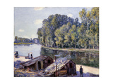 Huts on the Edge of the Canal Du Loing with Sun Shining; Cabanes Au Bord Du Canal Du Loing-Effet…