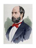 """Vicente De La Hoz Y Liniers (1831-1886) Journalist Editor of the Newspaper """"La Fe"""" Engraving…"""