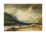 The Lake of Thun  Switzerland  C1802-10