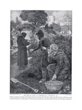 The Two De Laceys as Gardeners in a Monastery Ad1210  1920's