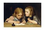 The Lesson; Der Schreibunterricht  1865