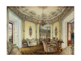 Interior View of the Salon of a Castle in Obertwaltersdorf; Innenanischt Eines Salons Des…
