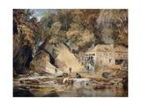 Aberdulais Mill  Glamorganshire  Wales  1796-97