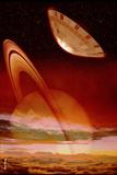 Huygens Probe Entering Titan's Atmosphere