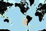 Chile 2010 Earthquake  World Map