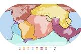 World Tectonic Plates  Global Map
